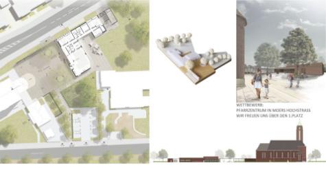 Neubau Pfarrheim in Moers Hochstrass